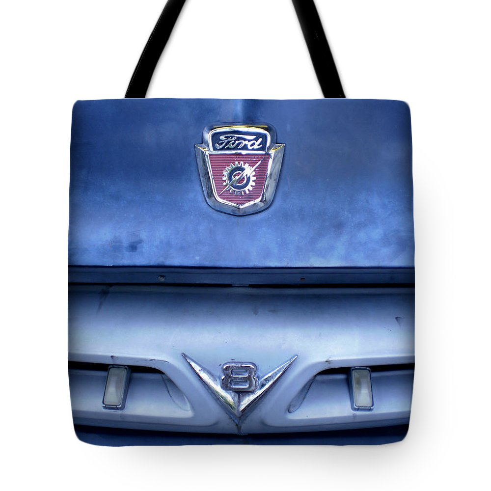 Cars Tote Bag featuring the photograph Ford V8 Truck by Jan Amiss Photography