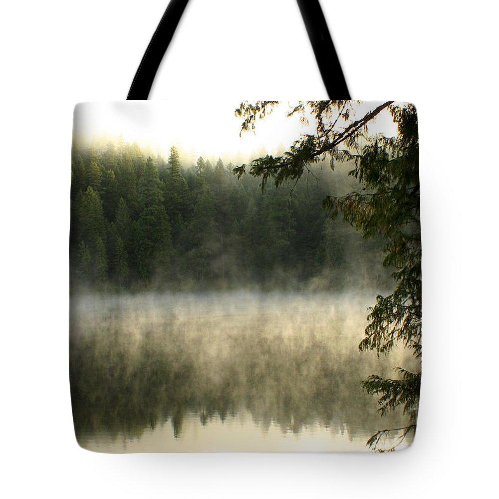 Fog Tote Bag featuring the photograph Forest And Fog by Idaho Scenic Images Linda Lantzy