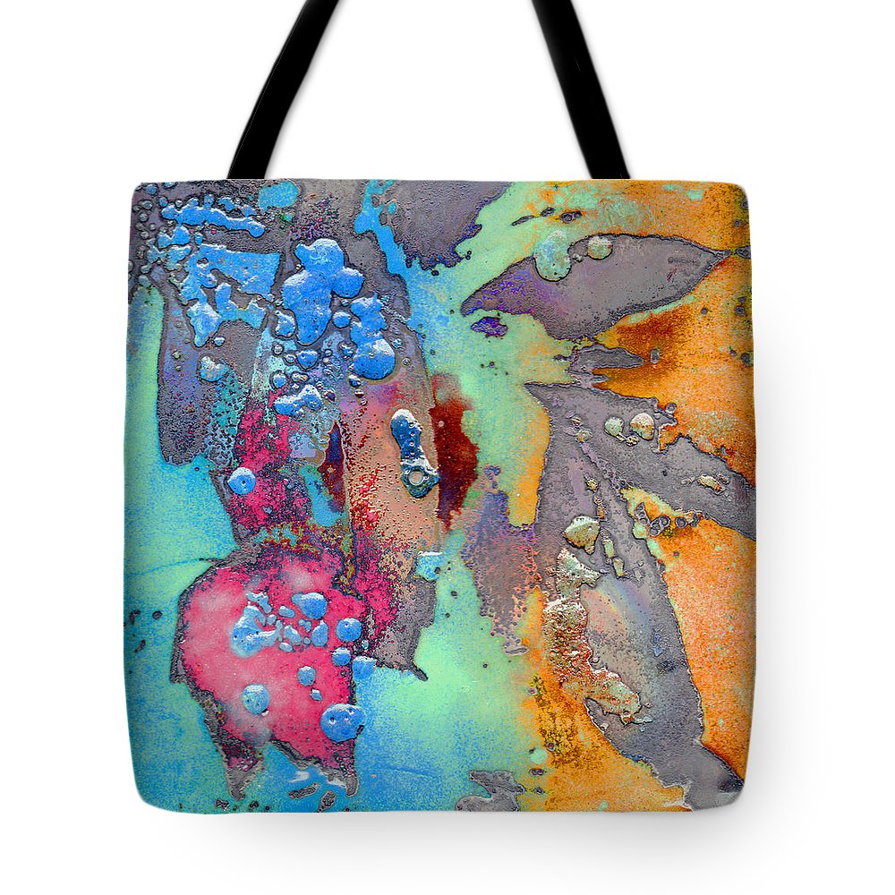 Copper Tote Bag featuring the painting Forest Beneath Us by Jude Lobe