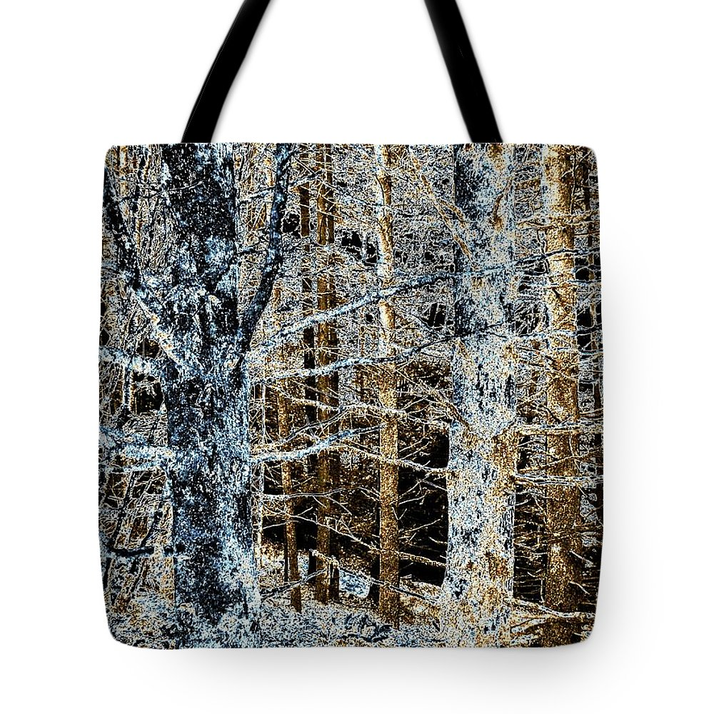 Forest Tote Bag featuring the digital art Forest Calm by Will Borden