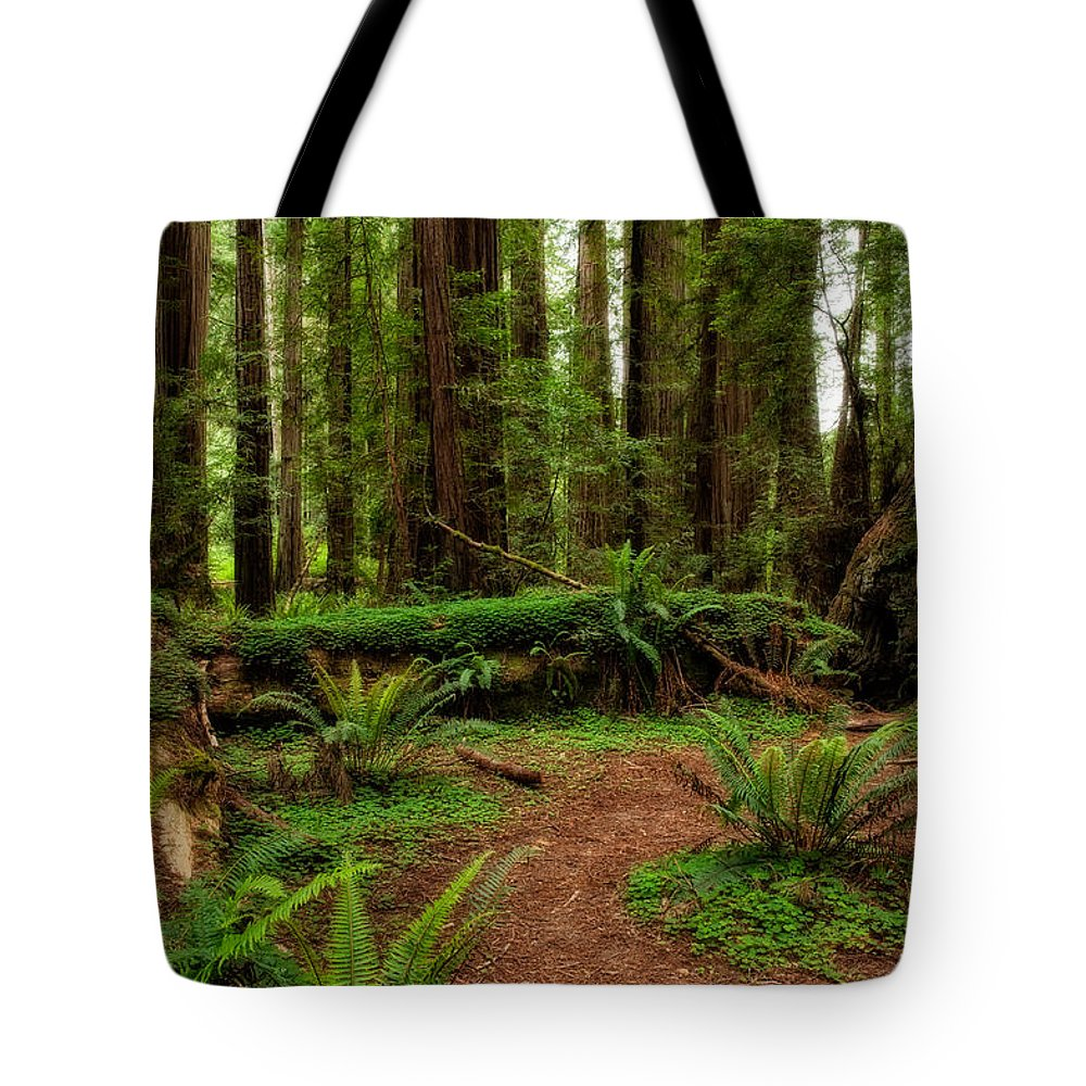 Forest Court Tote Bag featuring the photograph Forest Court by George Buxbaum
