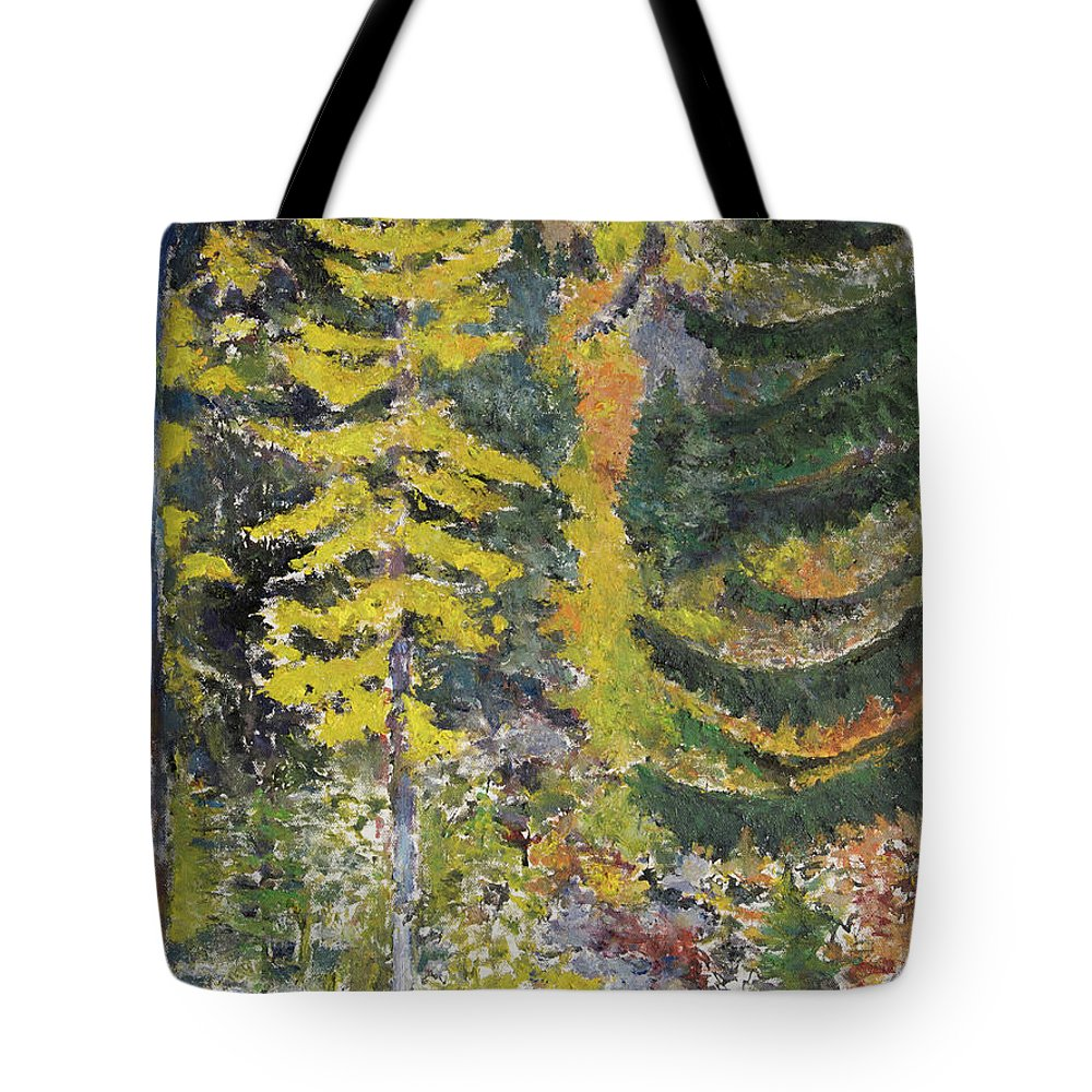 Forest Tote Bag featuring the painting Forest by Craig Newland