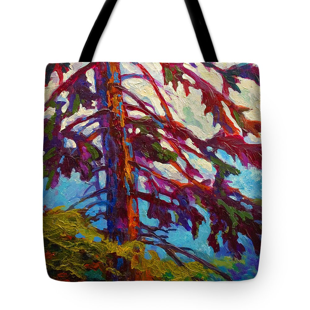Trees Tote Bag featuring the painting Forest Elder by Marion Rose