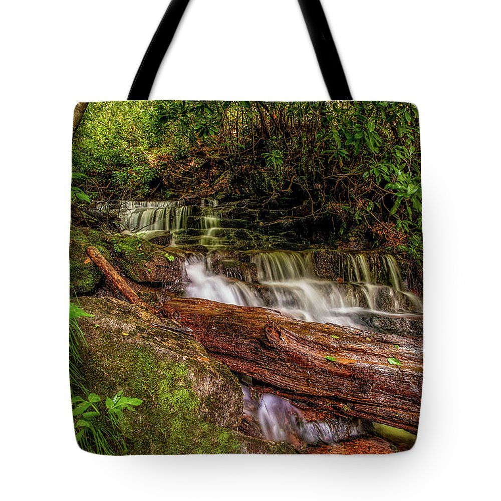 Christopher Holmes Photography Tote Bag featuring the photograph Forest Falls by Christopher Holmes