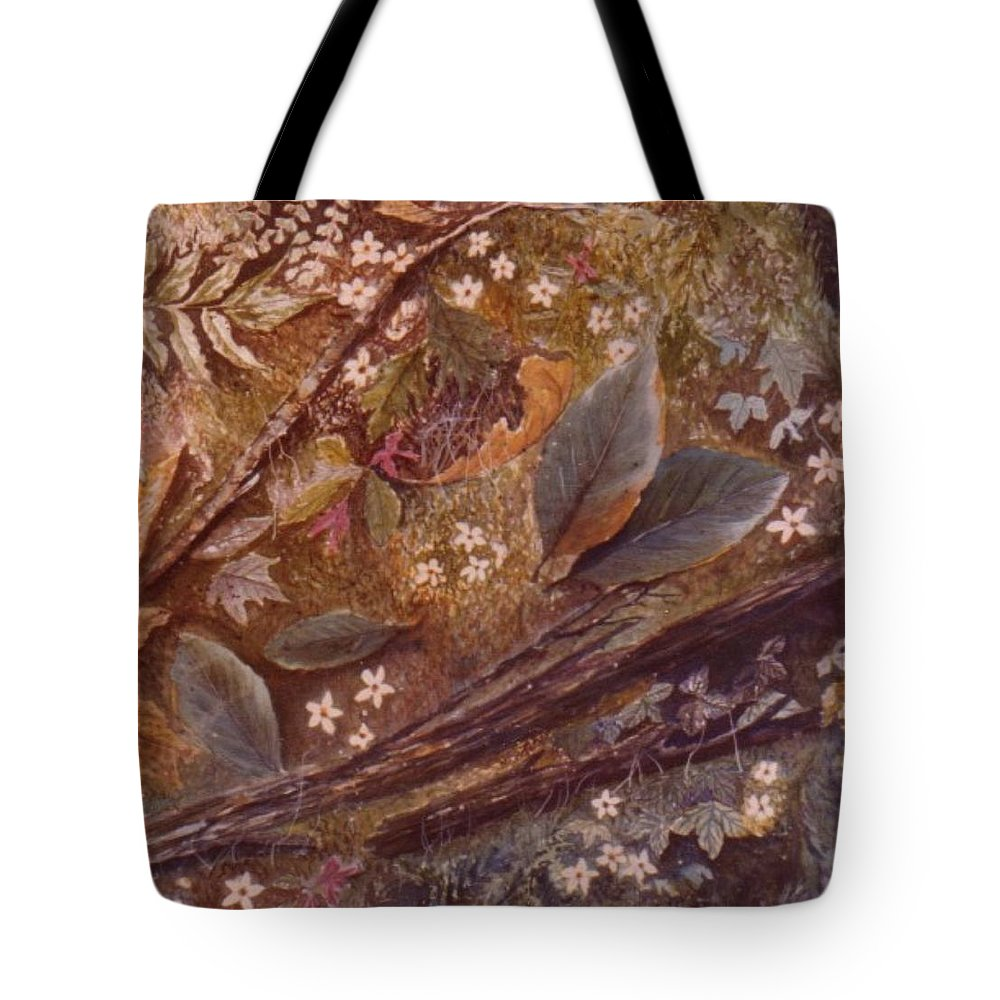 Leaves; Forest; Flowers Tote Bag featuring the painting Forest Floor by Ben Kiger
