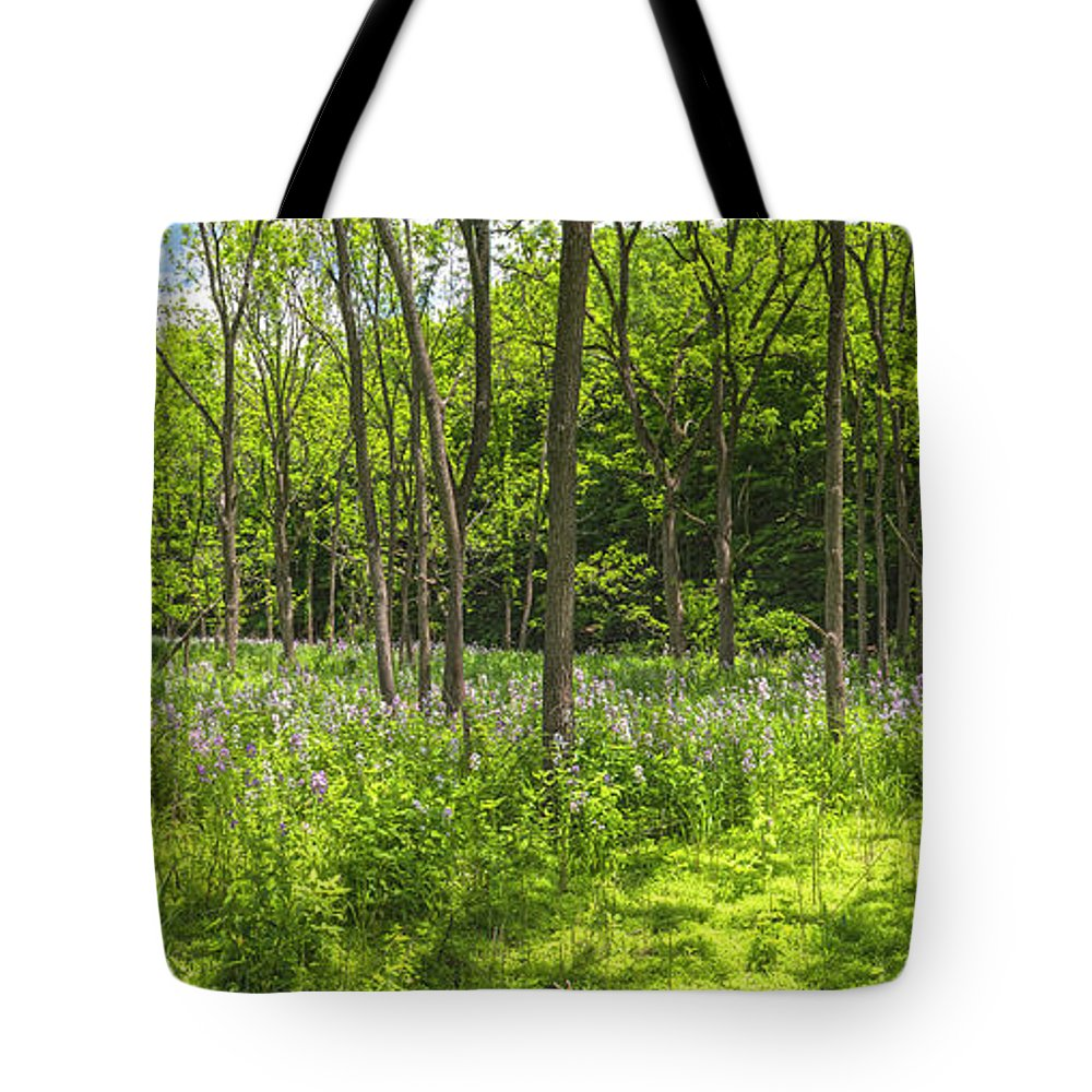 Wildflowers Tote Bag featuring the photograph Forest Floor Dame's Rocket by Angelo Marcialis