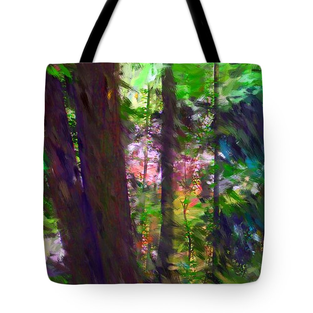 Digital Photography Tote Bag featuring the digital art Forest For The Trees by David Lane