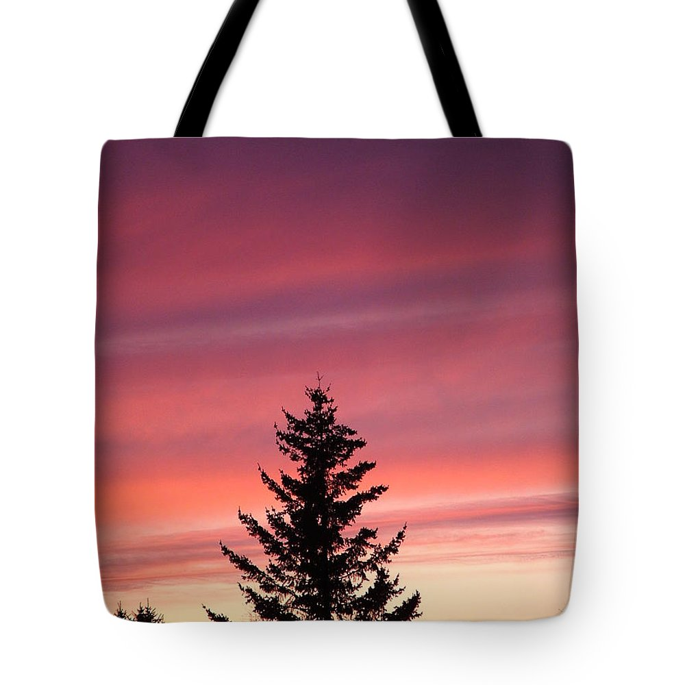 Sunset Photo Tote Bag featuring the photograph Forest Grove Sunset by Nick Gustafson