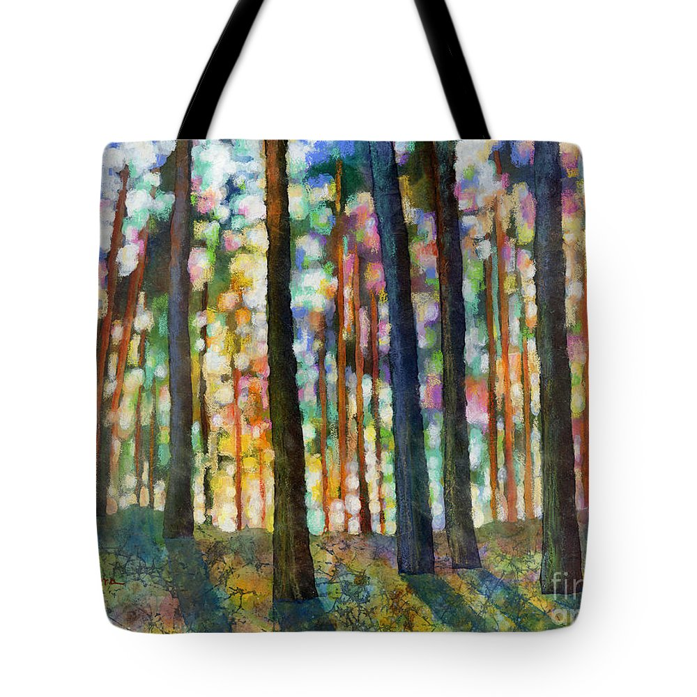 Dreaming Tote Bag featuring the painting Forest Light by Hailey E Herrera