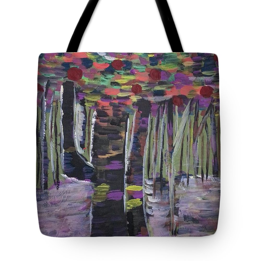 Forest Tote Bag featuring the painting Forest by Marialyn Laganza