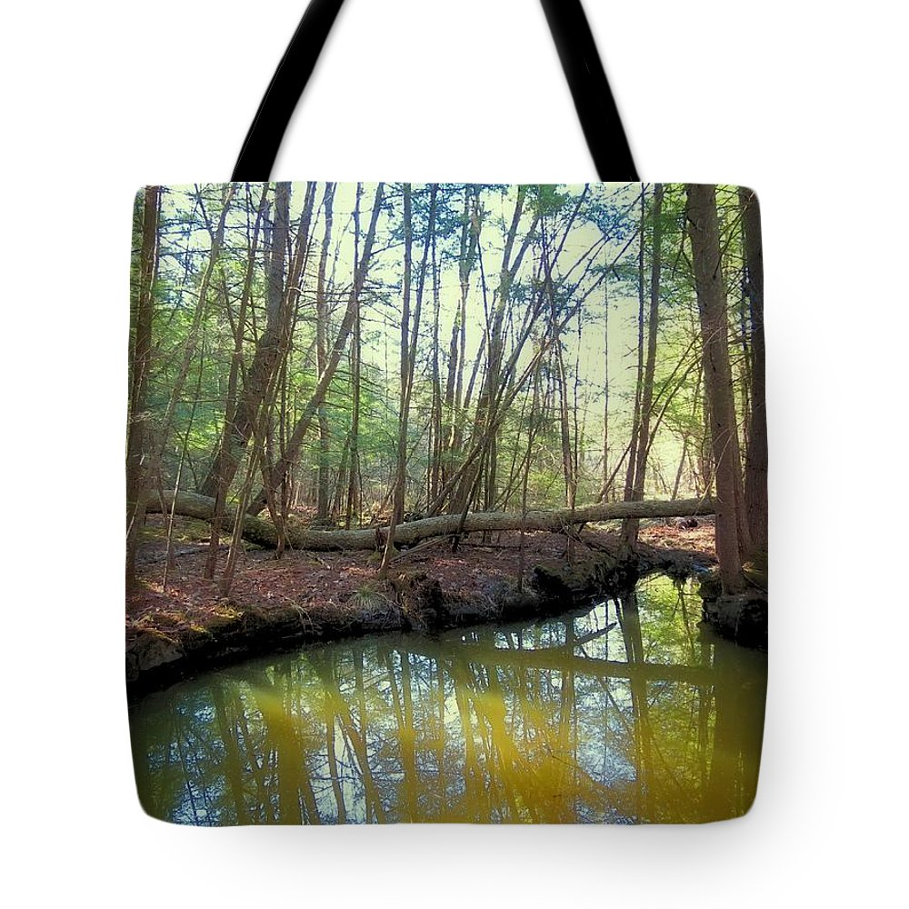 Forest Tote Bag featuring the photograph Forest Pool by MTBobbins Photography