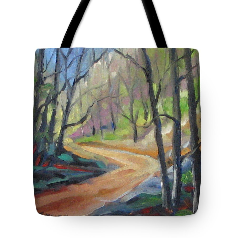 Art Tote Bag featuring the painting Forest Way by Richard T Pranke
