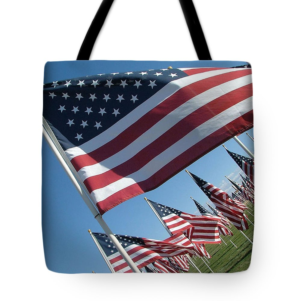 Flag Tote Bag featuring the photograph Forever Flags by Dawn Blair
