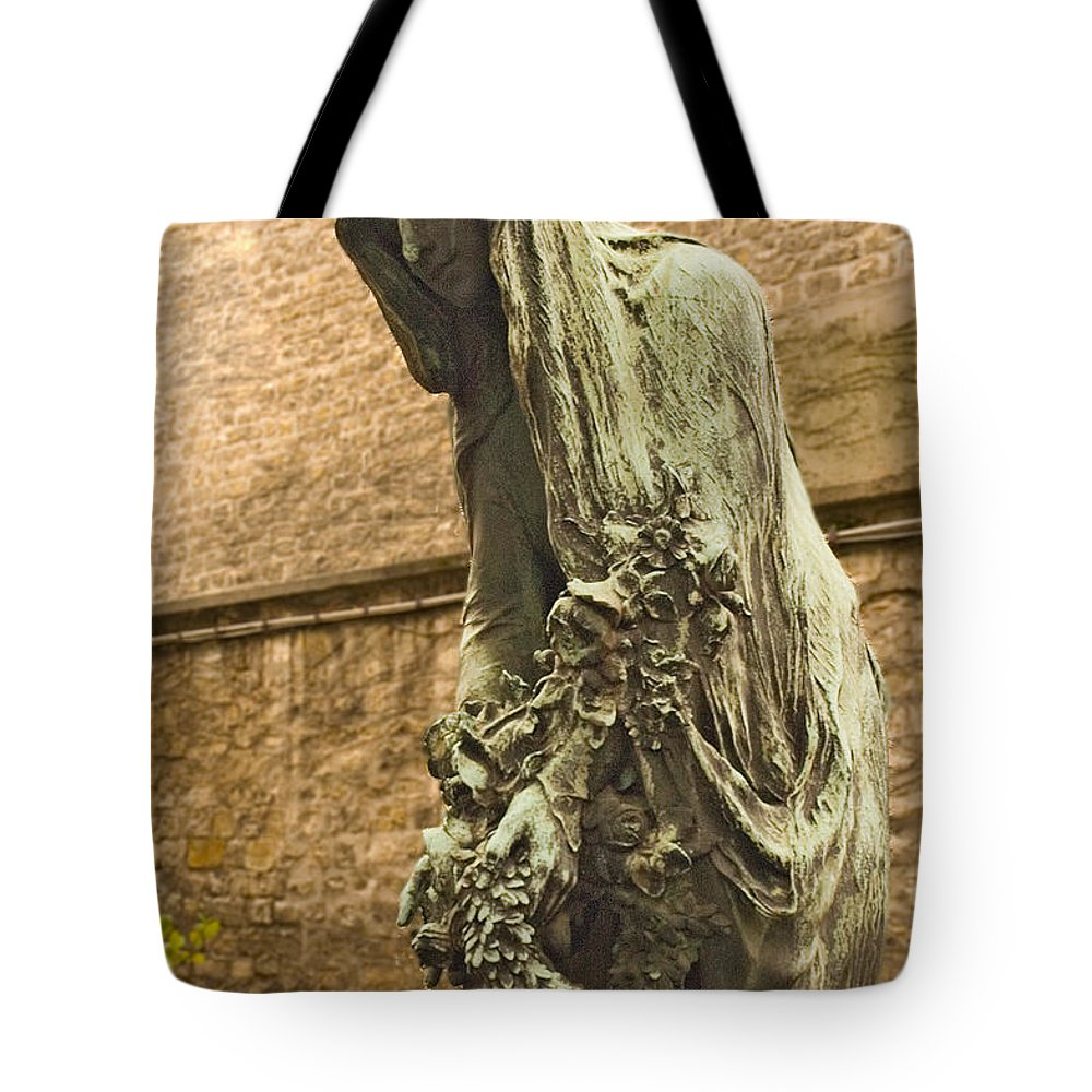 Statue Tote Bag featuring the photograph Forever Mourning by Mick Burkey