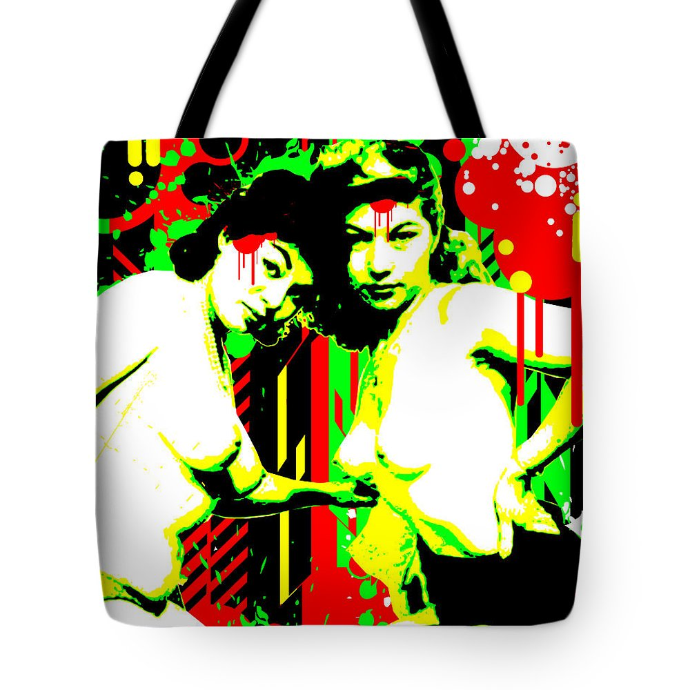 Nostalgic Seduction Tote Bag featuring the digital art Forever Pinup II by Chris Andruskiewicz