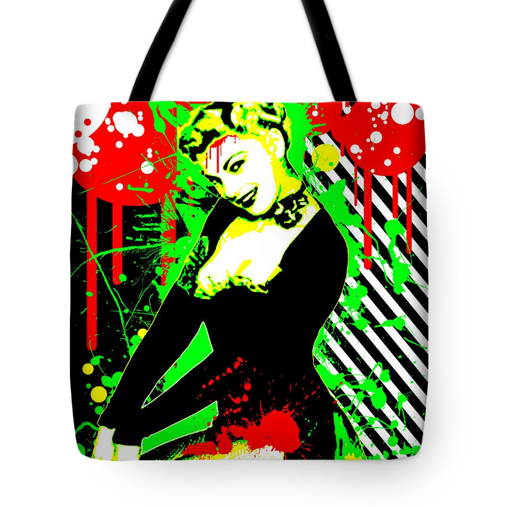 Nostalgic Seduction Tote Bag featuring the digital art Forever Pinup IIi by Chris Andruskiewicz