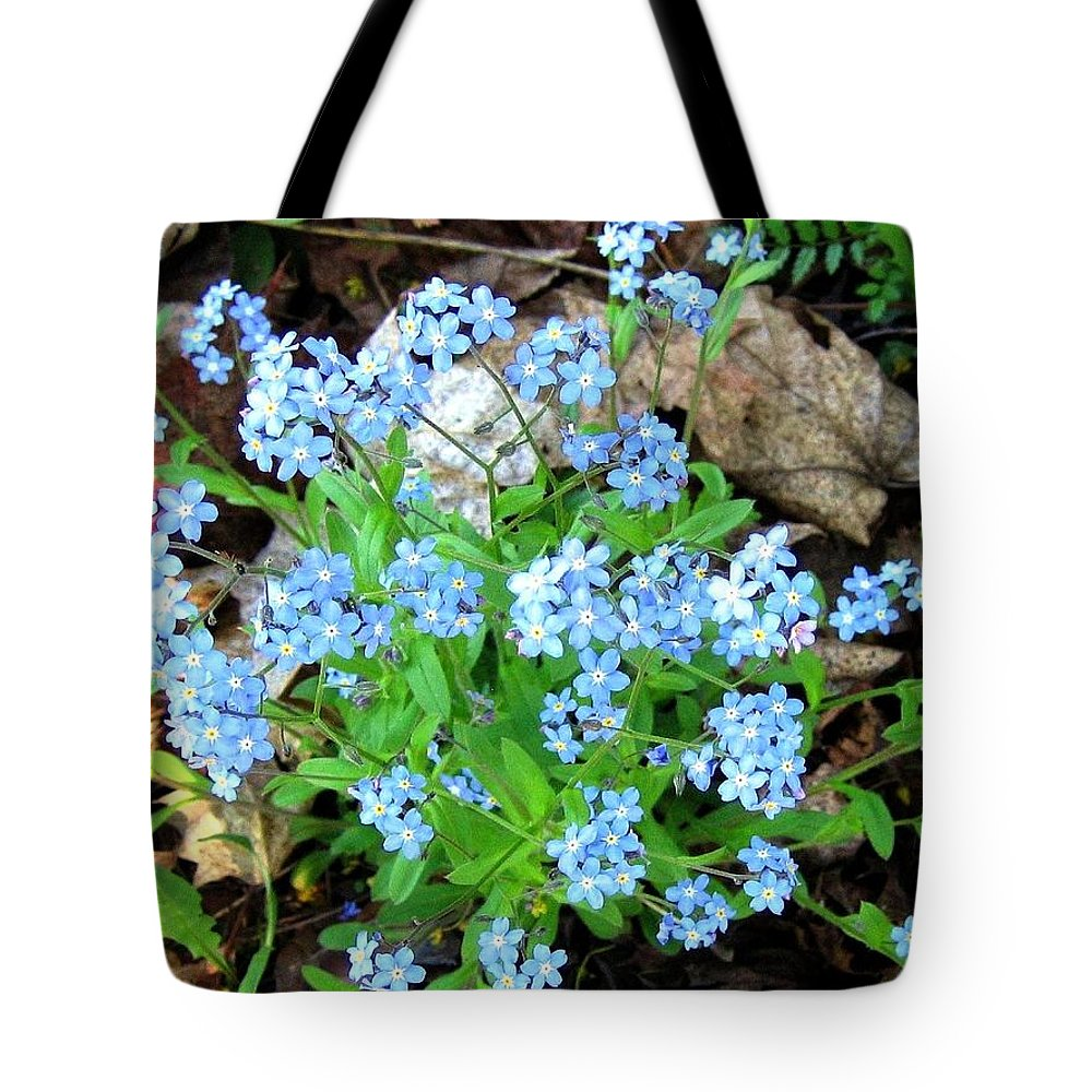 Forget-me-not Tote Bag featuring the photograph Forget-me-not by Will Borden