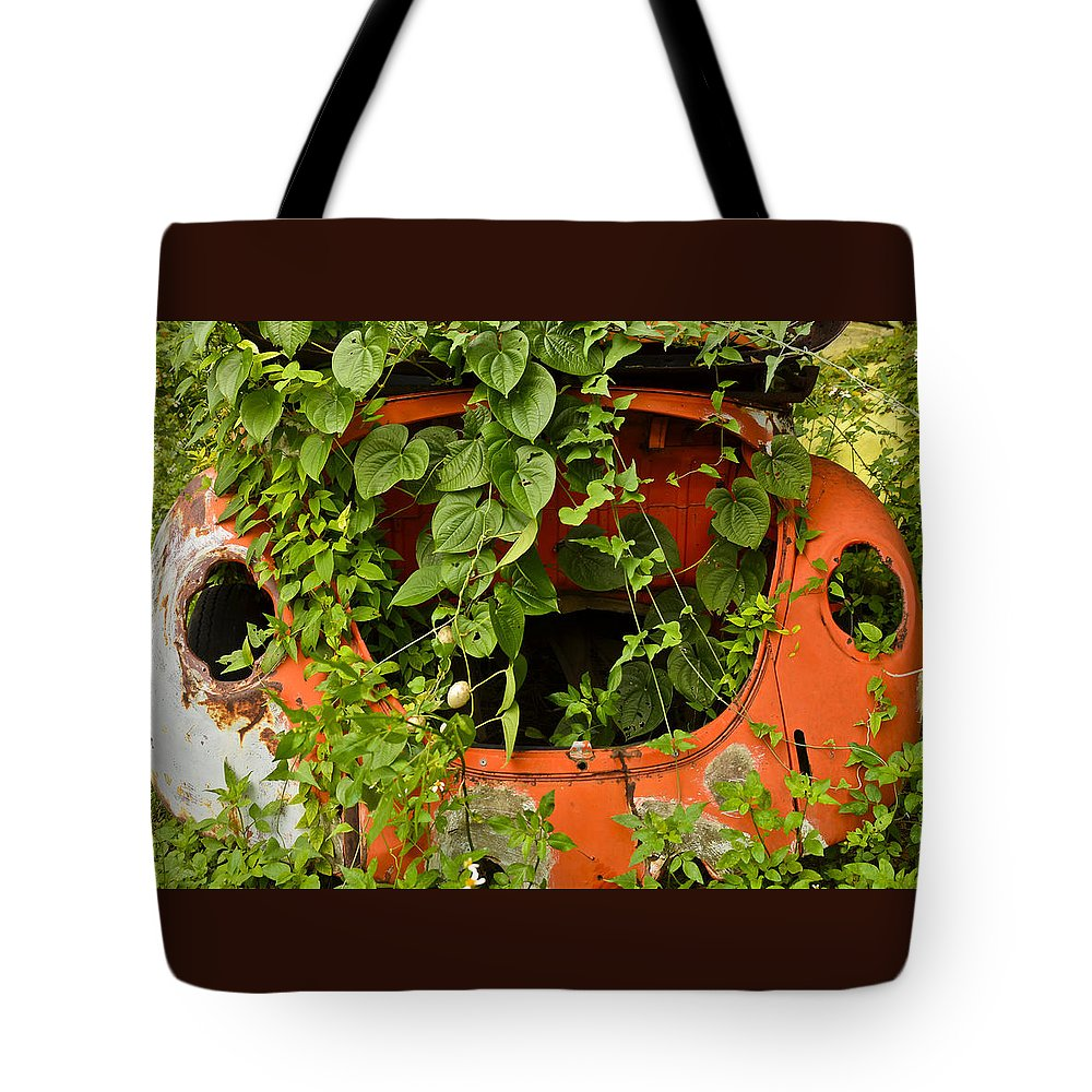 Vw Bug Tote Bag featuring the photograph Forgotten by Carolyn Marshall
