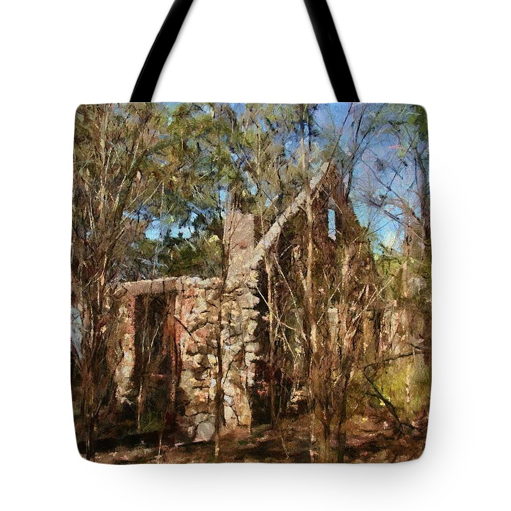 Abandon Tote Bag featuring the painting Forgotten by Jeffrey Kolker