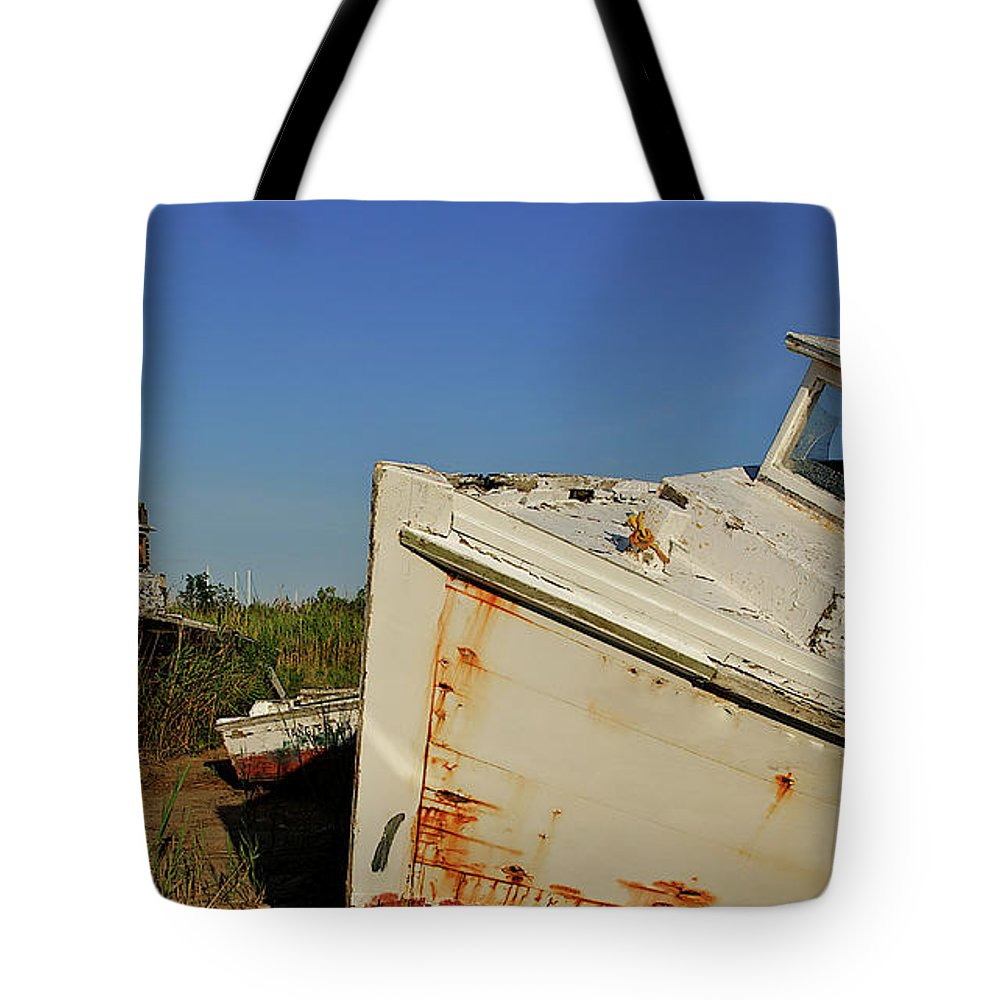 Tangier Island Tote Bag featuring the photograph Forgotten Jewel by Marlene Frazier