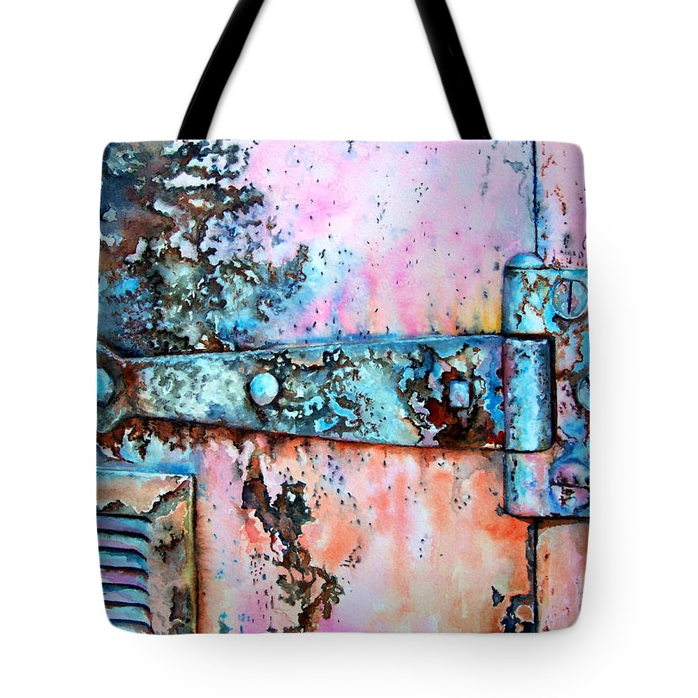 Watercolor Painting Tote Bag featuring the painting Forgotten by Leyla Munteanu