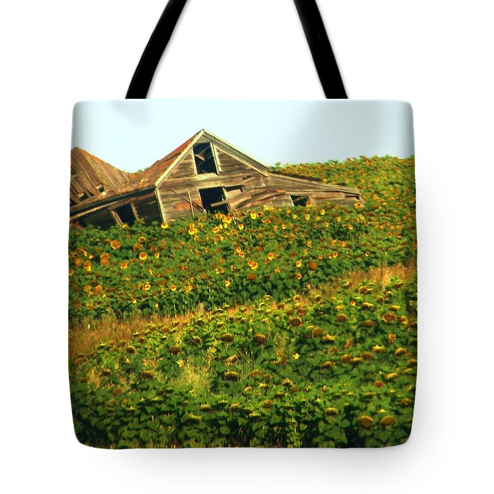 Old Building Tote Bag featuring the photograph Forgotten by Marilyn Smith