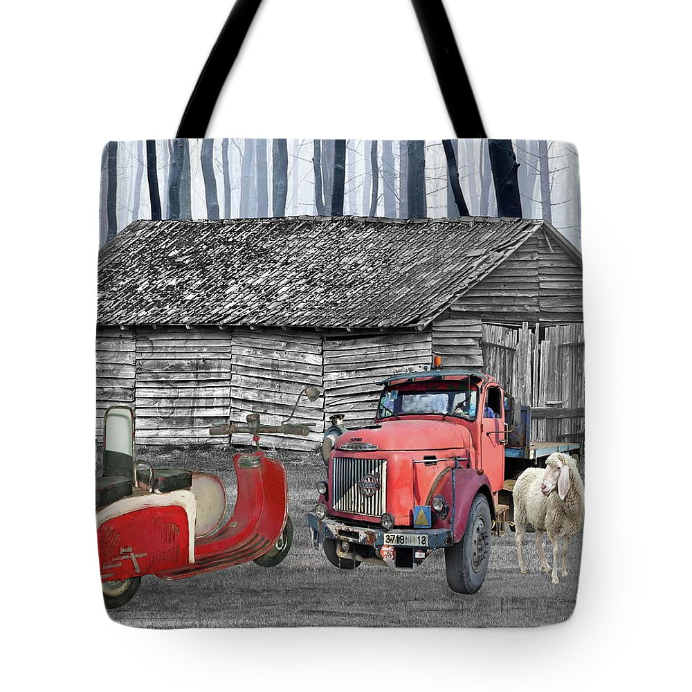 Old Tote Bag featuring the photograph Forgotten Old Timers by Manfred Lutzius