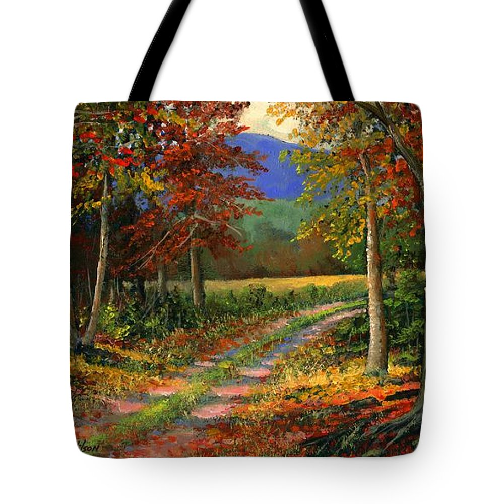 Landscape Tote Bag featuring the painting Forgotten Road by Frank Wilson