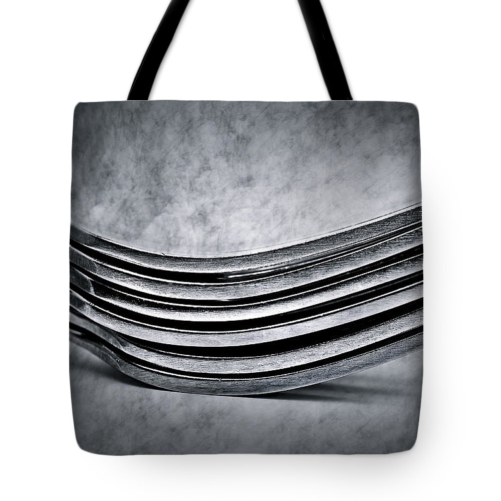 Flatware Tote Bag featuring the photograph Forks - Antique Look by Onyonet Photo Studios