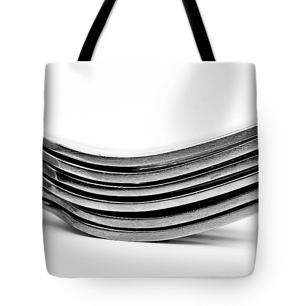 Flatware Tote Bag featuring the photograph Forks by Onyonet Photo Studios