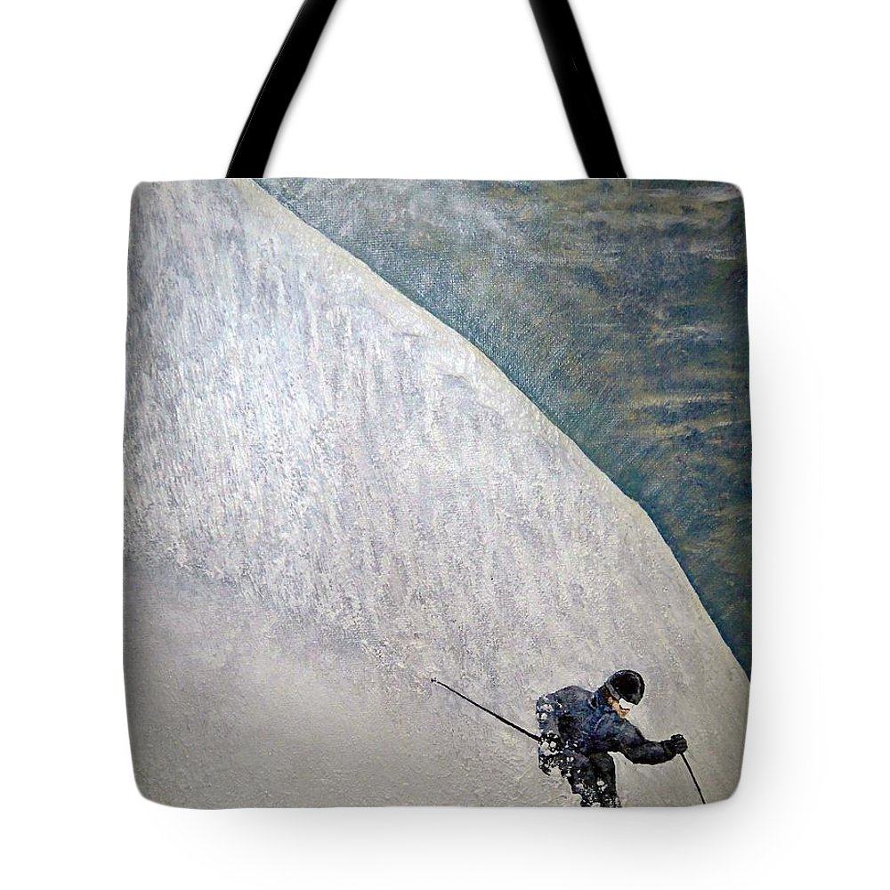 Landscape Tote Bag featuring the painting Form by Michael Cuozzo