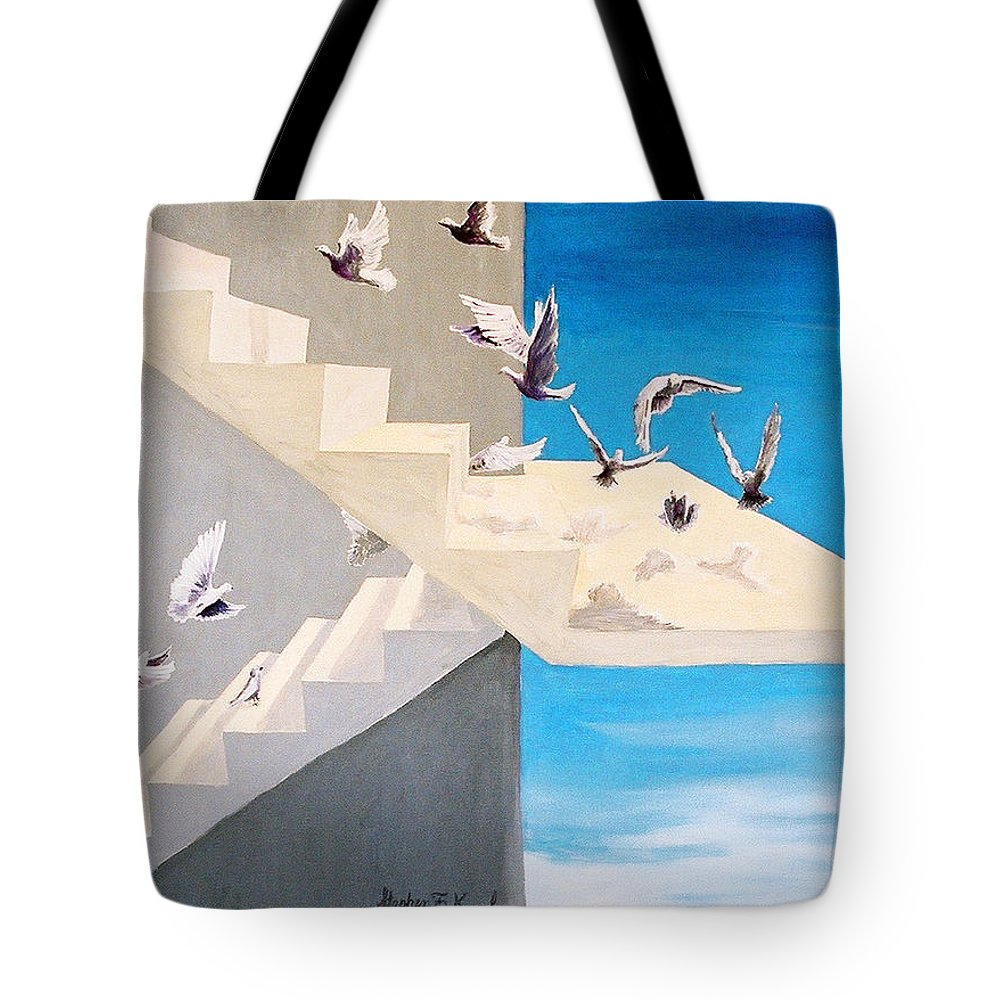 Birds Tote Bag featuring the painting Form Without Function by Steve Karol