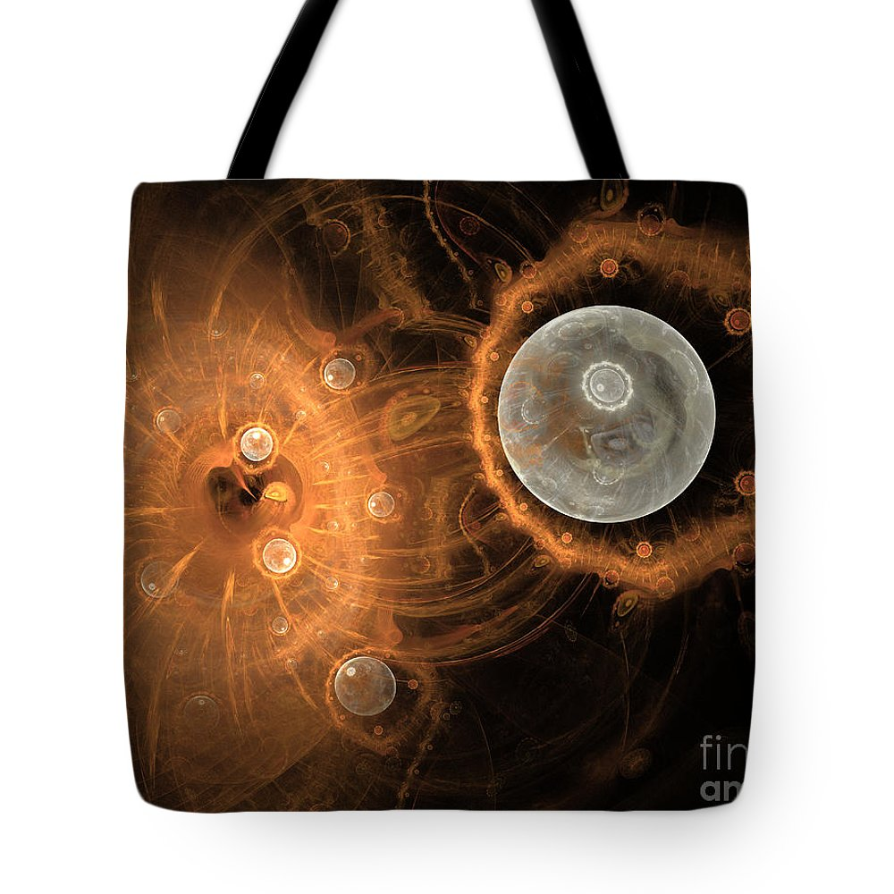 Planet Tote Bag featuring the digital art Formation Of New Planets by Amy M Art Studio