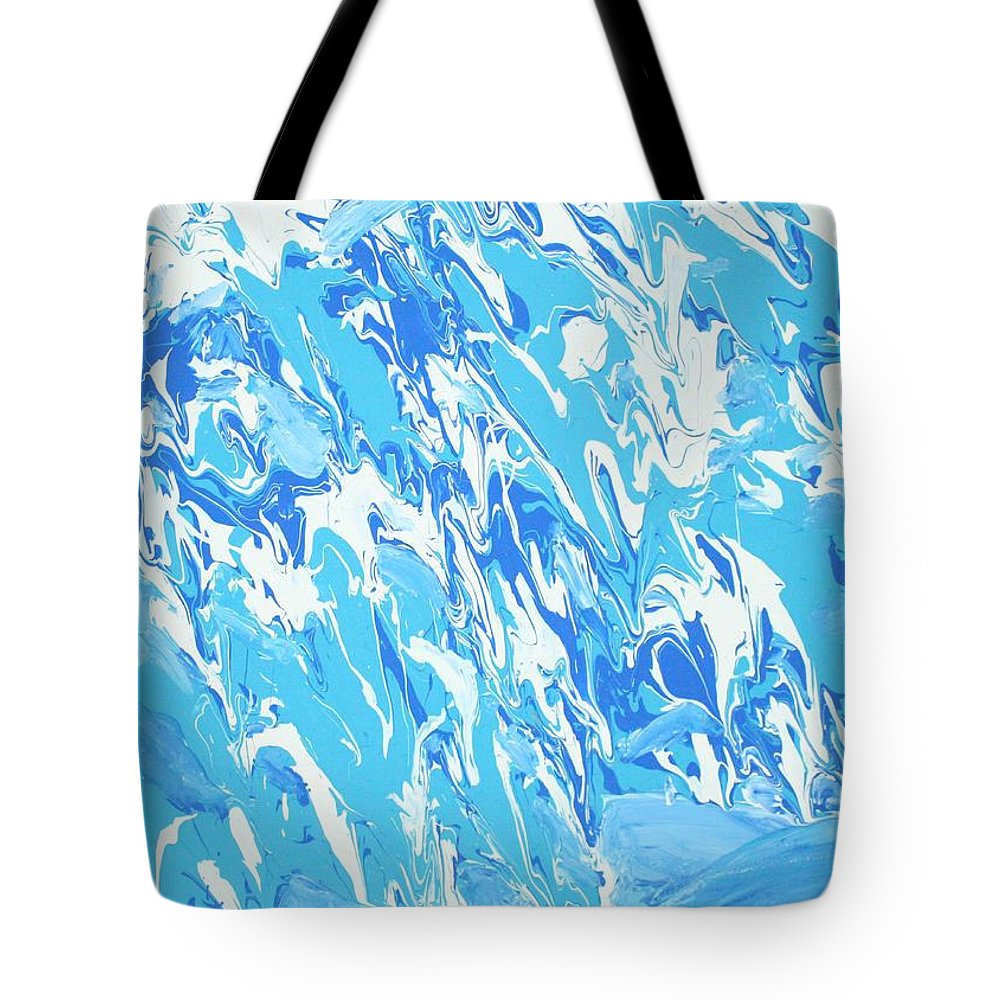 Water Tote Bag featuring the painting Formless Collection edition 1 by Sonye Locksmith
