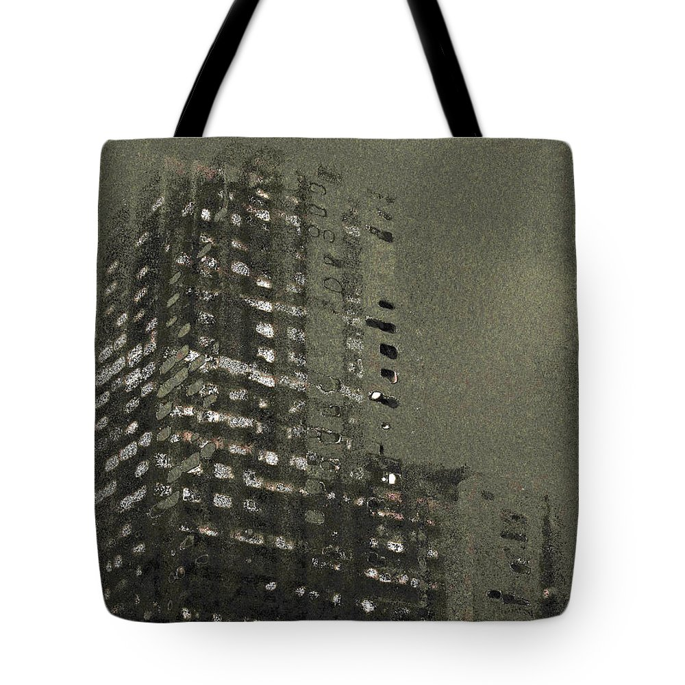 Abstract Tote Bag featuring the digital art Formless by Nicholas Haddox