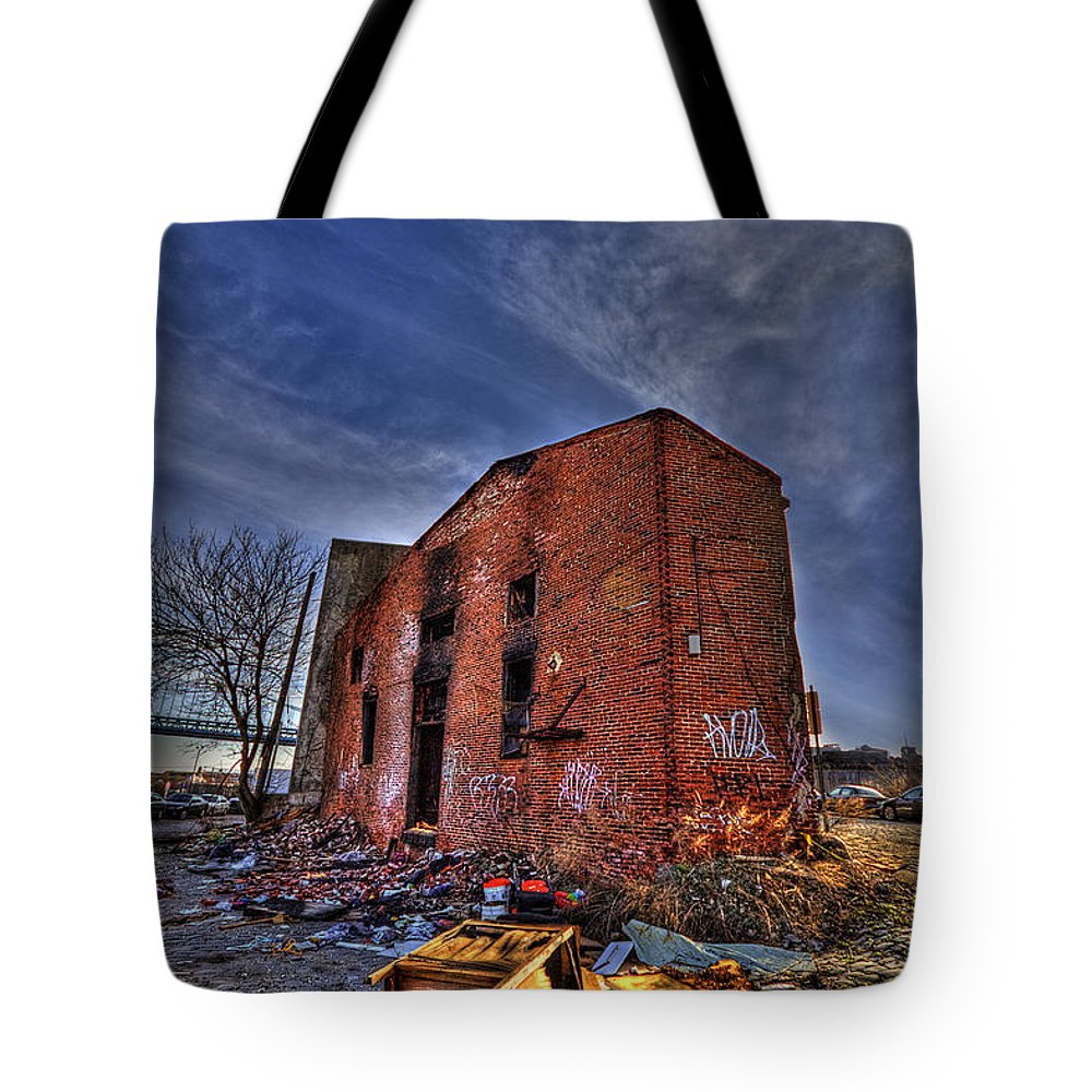 Abandoned Tote Bag featuring the photograph Forsaken Luxury by Evelina Kremsdorf