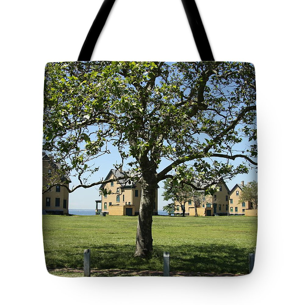 Fort Hancock Tote Bag featuring the photograph Fort Hancock by Christiane Schulze Art And Photography