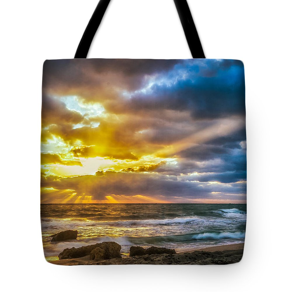 Natural Forms Tote Bag featuring the photograph Fort Lauderdale Sunrise by Rikk Flohr