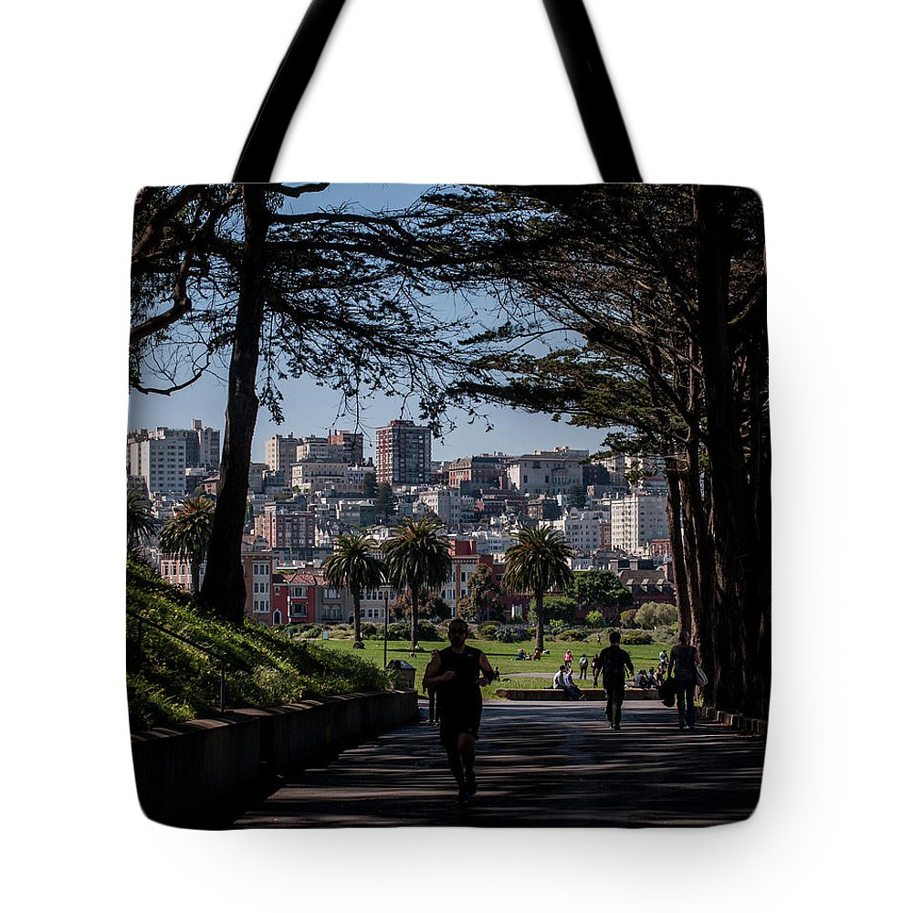 San Francisco Tote Bag featuring the photograph Fort Mason Frame by Andrew Hollen