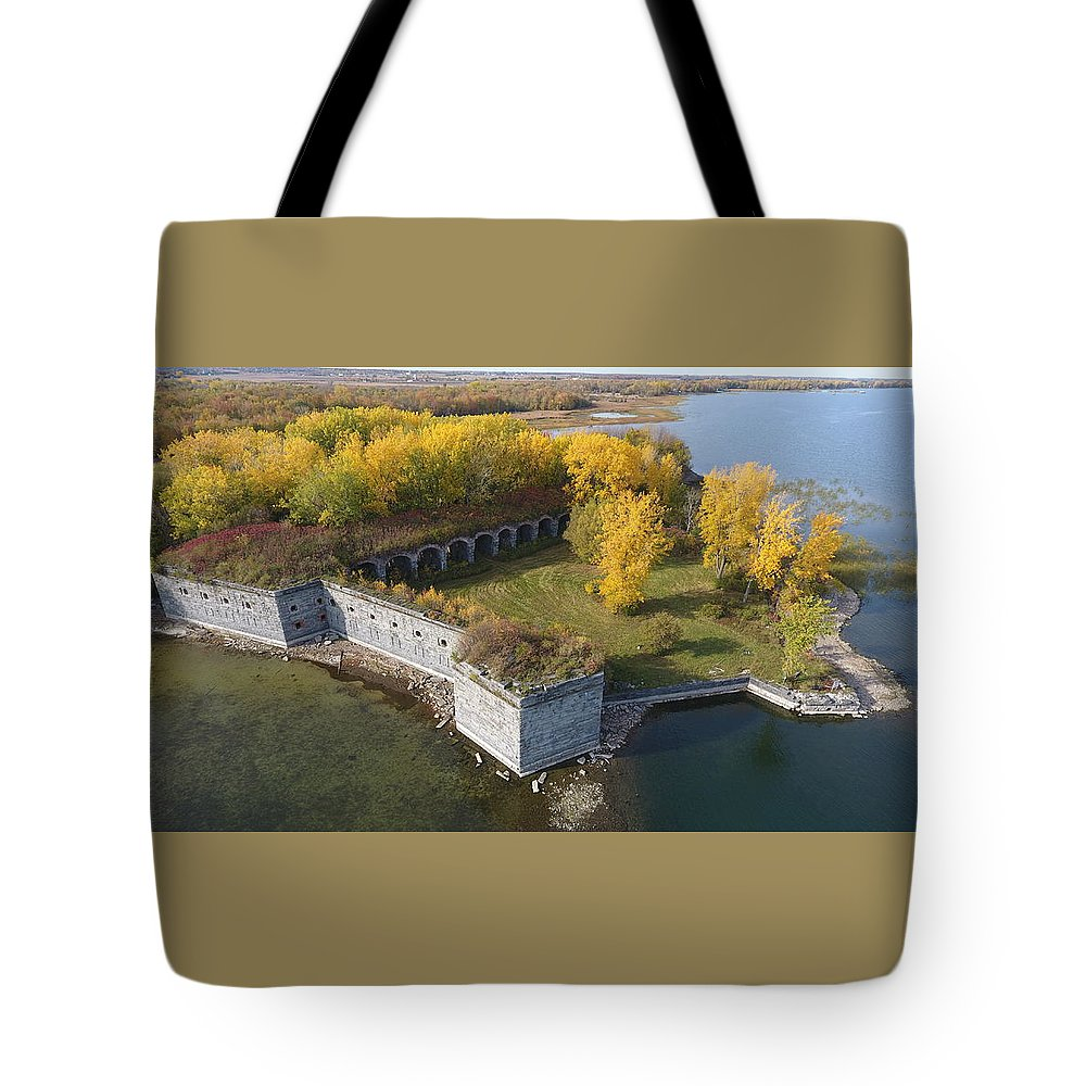 Fort Tote Bag featuring the photograph Fort Montgomery Fall by Jedidiah Thone