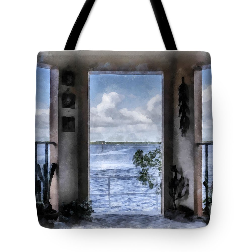 Sanibel Island Digital Art Tote Bags