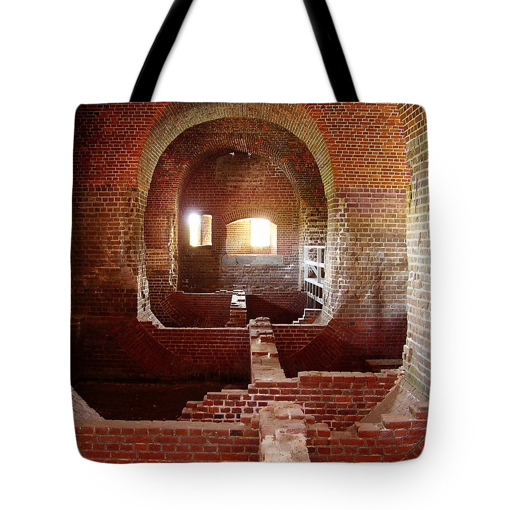 Fort Pulaski Tote Bag featuring the photograph Fort Pulaski I by Flavia Westerwelle
