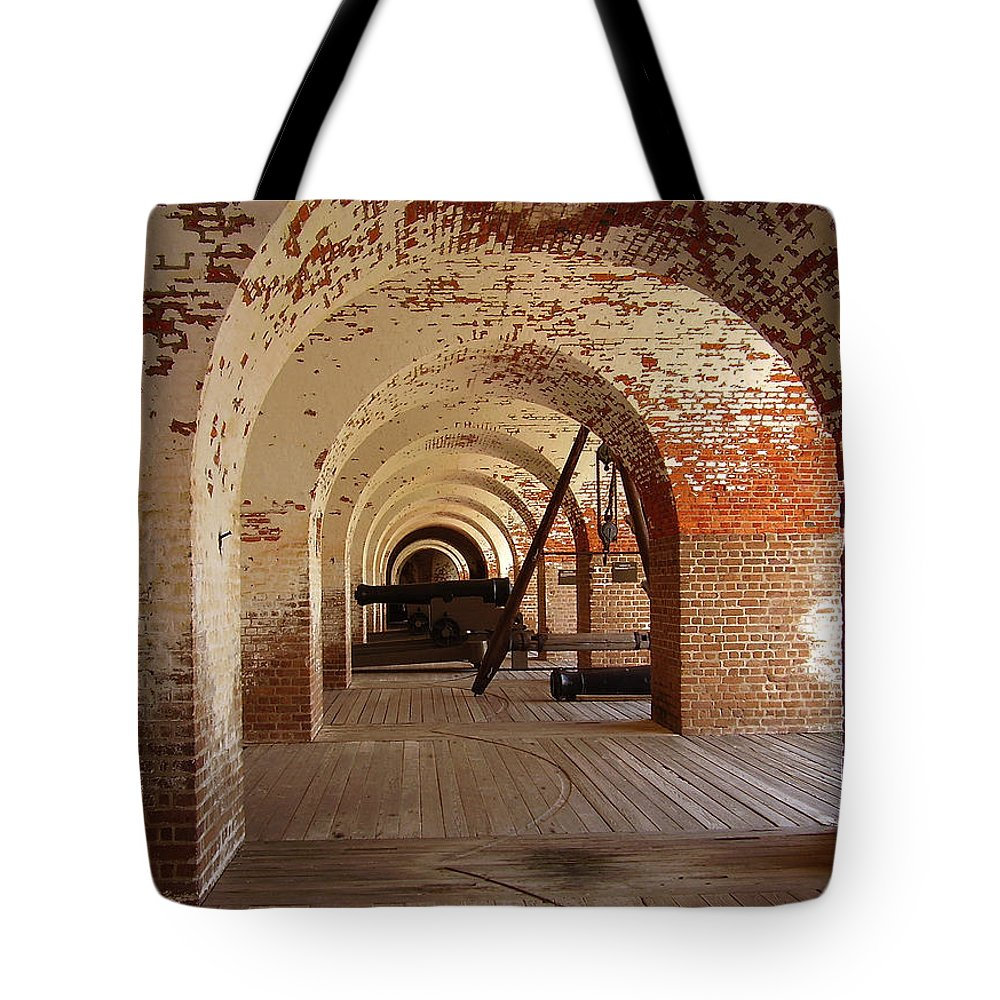Fort Pulaski Tote Bag featuring the photograph Fort Pulaski II by Flavia Westerwelle