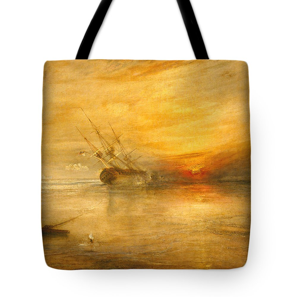 Fort Tote Bag featuring the painting Fort Vimieux by Joseph Mallord William Turner