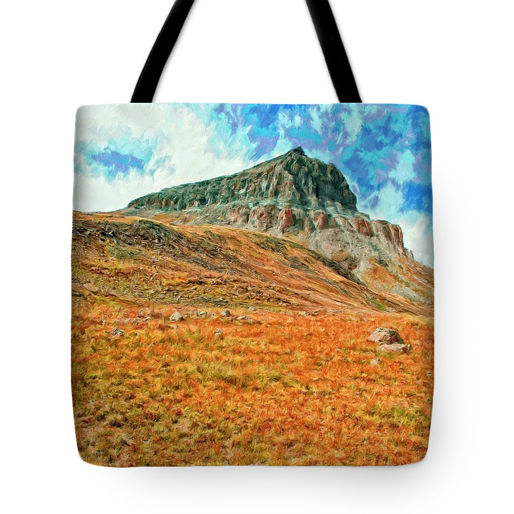 Fortress Tote Bag featuring the painting Fortress by Dominic Piperata