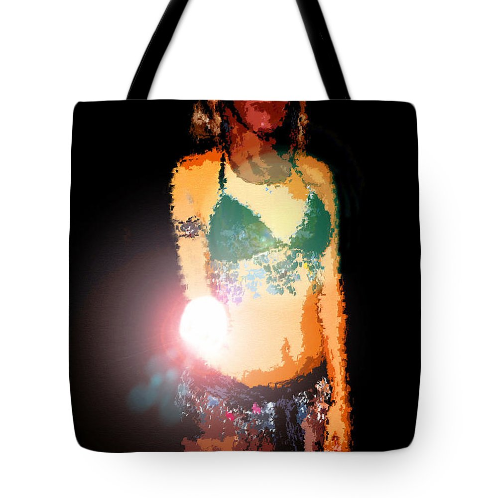 Fortuna Tote Bag featuring the painting Fortuna by David Lee Thompson