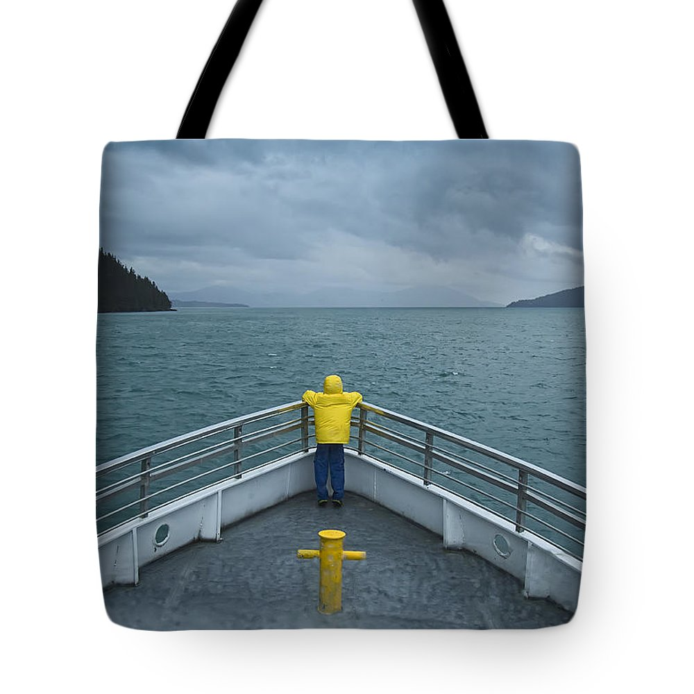Photograph Tote Bag featuring the photograph Forward Lookout by David Wagner