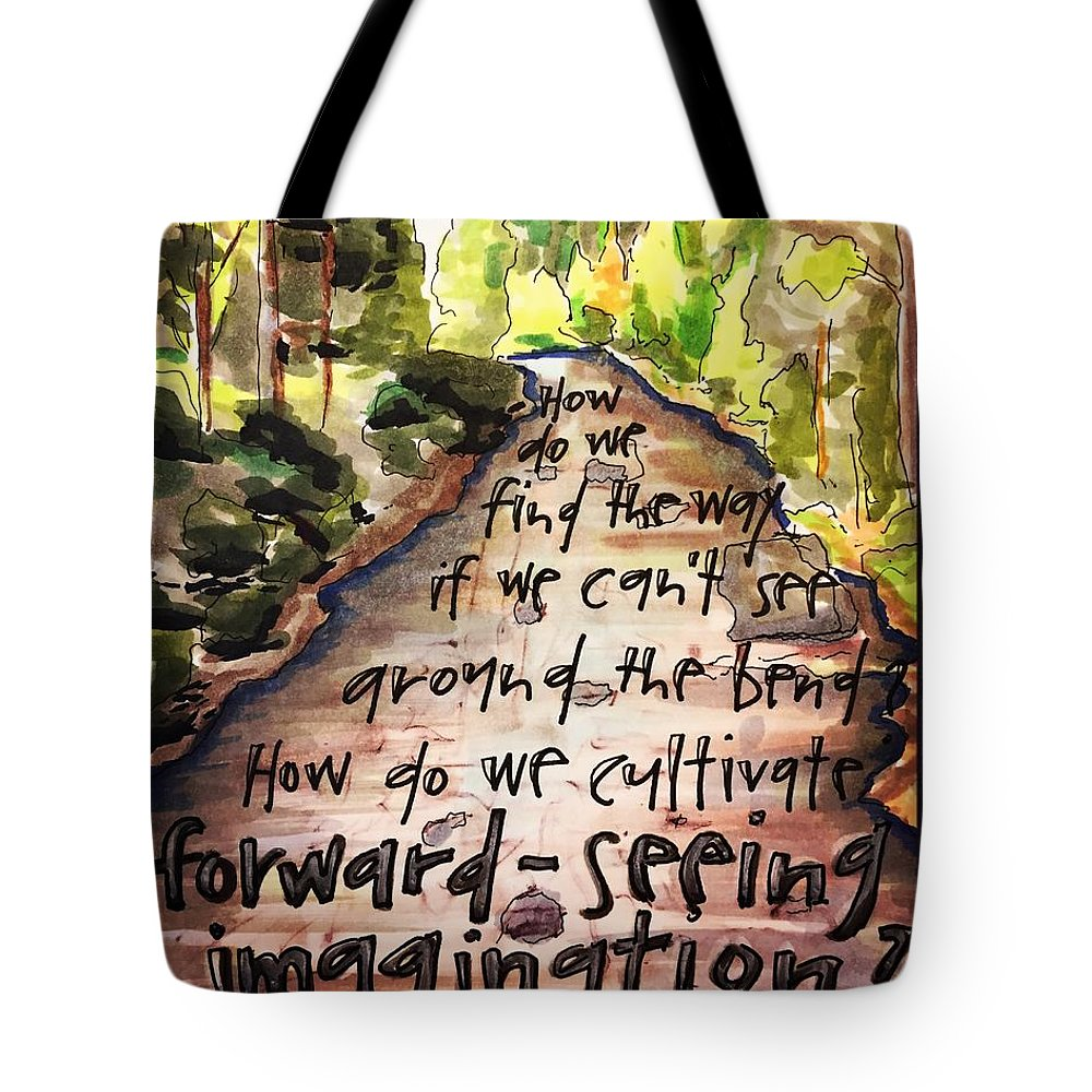River Tote Bag featuring the painting Forward-Seeing Imagination by Vonda Drees