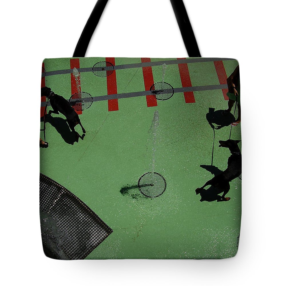 Fountain Tote Bag featuring the photograph Fountain by Flavia Westerwelle