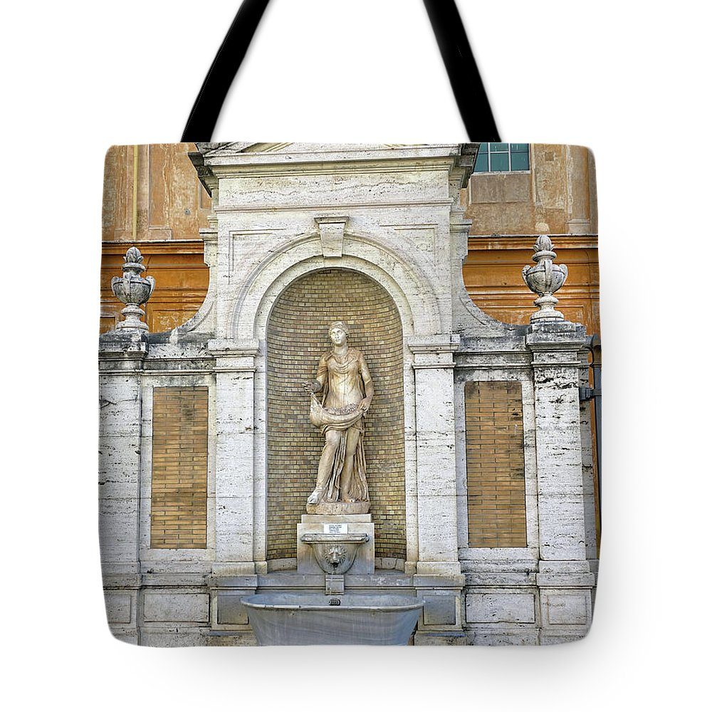 Fountain Tote Bag featuring the photograph Fountain In The Vatican City by Richard Rosenshein